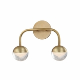 Mizner 2-Light Sconce | Antique Brass