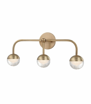 Mizner 3-Light Vanity Fixture | Antique Brass