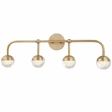 Mizner 4-Light Vanity Fixture | Antique Brass