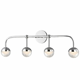 Mizner 4-Light Vanity Fixture | Polished Chrome