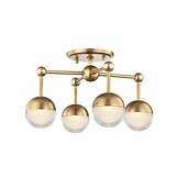 Mizner Flush Mount | Antique Brass