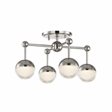 Mizner Flush Mount | Polished Nickel