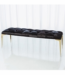 Modo Cowhide & Brass Bench | Black