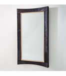 Modo Cowhide Floor Mirror | Black