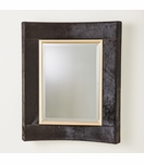 Modo Cowhide Wall Mirror | Black