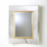 Modo Curved Cowhide Mirror | Ivory