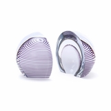 Moravia Glass Bookends | Purple