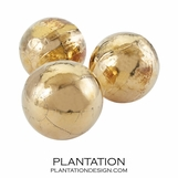 Munich Crackled Spheres Set | Gold