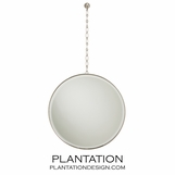 Myles Hanging Mirror | Polished Nickel