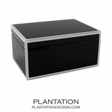 Nemo Large Glass Box | Black