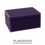Nemo Large Glass Box | Purple