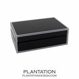Nemo Small Glass Box | Black