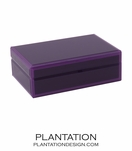 Nemo Small Glass Box | Purple