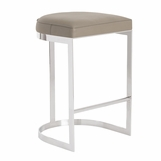 Nichols Bar Stool | Grey Leather