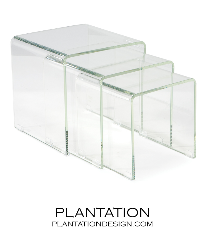 Nilas glass nesting tables plantation nilas glass nesting tables watchthetrailerfo