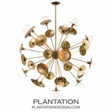 Norton Grand Chandelier | Brass