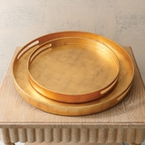Novi Lacquered Trays | Gold Leaf