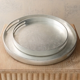 Novi Lacquered Trays | Silver Leaf