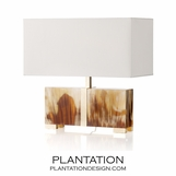 Carato Gilded Horn Lamp