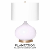 Padma Glass Table Lamp | Lilac