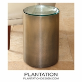 Panatela Bronzed Side Table