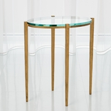 Pauline Oval Side Table | Gold