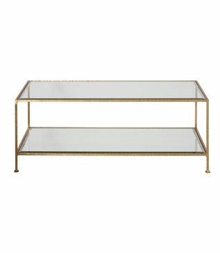 Petrov Rectangular Coffee Table | Gold