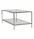 Petrov Rectangular Coffee Table | Nickel