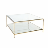 Petrov Square Coffee Table | Gold