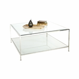 Petrov Square Coffee Table | Nickel