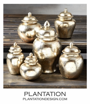 Pia Metallic Jars Set