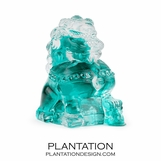 Pinyin Glass Lion | Turquoise