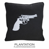 Pistol Pillow | Black Wool