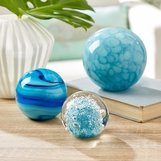Plasma Spheres Paperweights Set | Blue