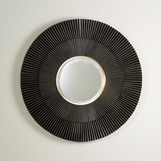 Pleated Bronze Wall Mirror