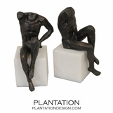 Poser Bronze Bookends | Male