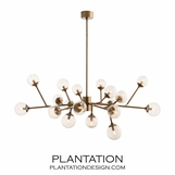 Priya Articulated Chandelier | Brass
