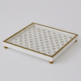 Quintessential Square Tray | Lattice Marble
