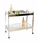 Raymond Bar Cart | Nickel