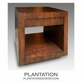 Recessed W Side Table | Walnut