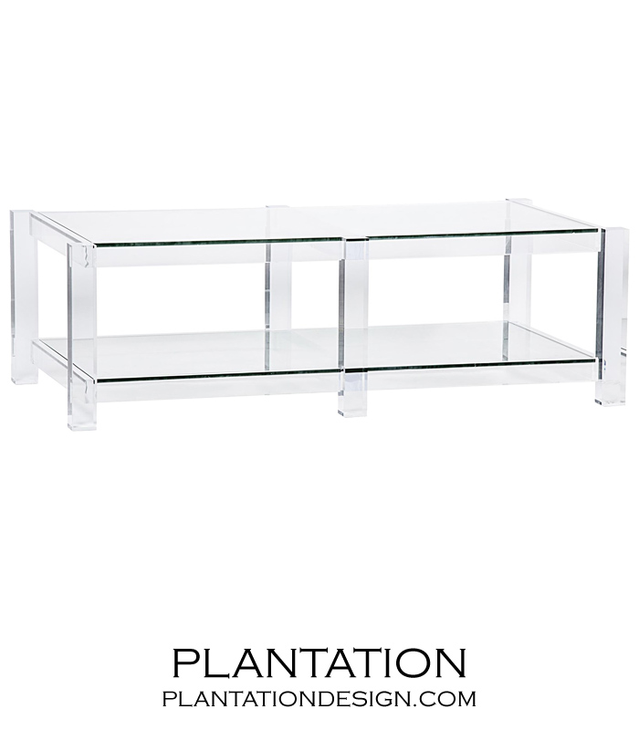 Attirant Regent Lucite Coffee Table