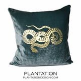 Reiki Velvet Pillow | Snake