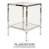 Renata Side Table | Nickel