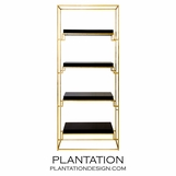 Renzo Gold Leaf Shelf | Black