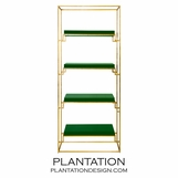 Renzo Gold Leaf Shelf | Green