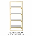 Renzo Gold Leaf Shelf | White