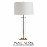 Rockwell Glass Table Lamp | Brass