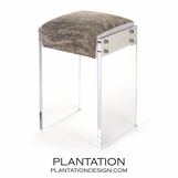 Salvador Cowhide & Lucite Bar Stool
