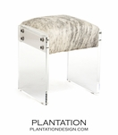Salvador Cowhide & Lucite Stool