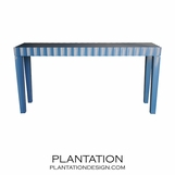Seville Scalloped Console Table, Painted